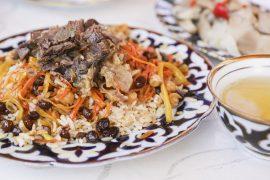 Uzbek food plov diariesof
