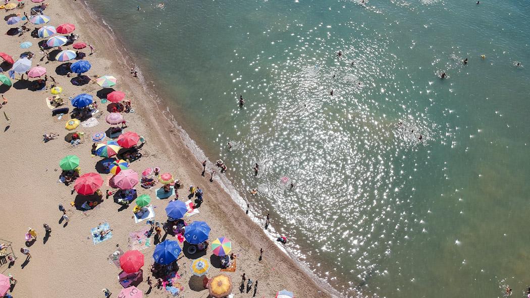 Kyrgyzstan-drone-Issyk Kul beach_0642