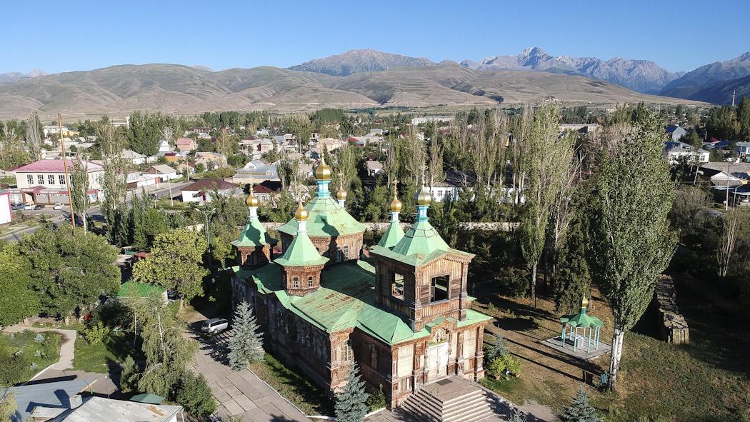 Kyrgyzstan-drone-Karakol_cathedral_0689
