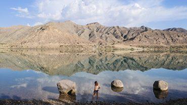 Kyrgyzstan-drone-morning bath lake_0581