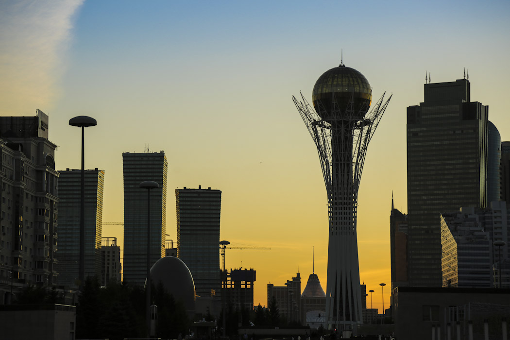 astana sunset