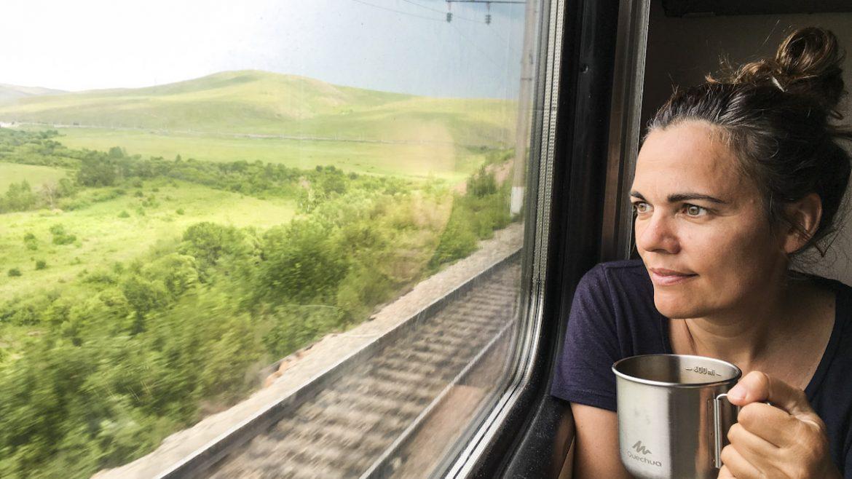 The Trans-Siberian train