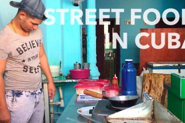 Street Food in Cuba (video)