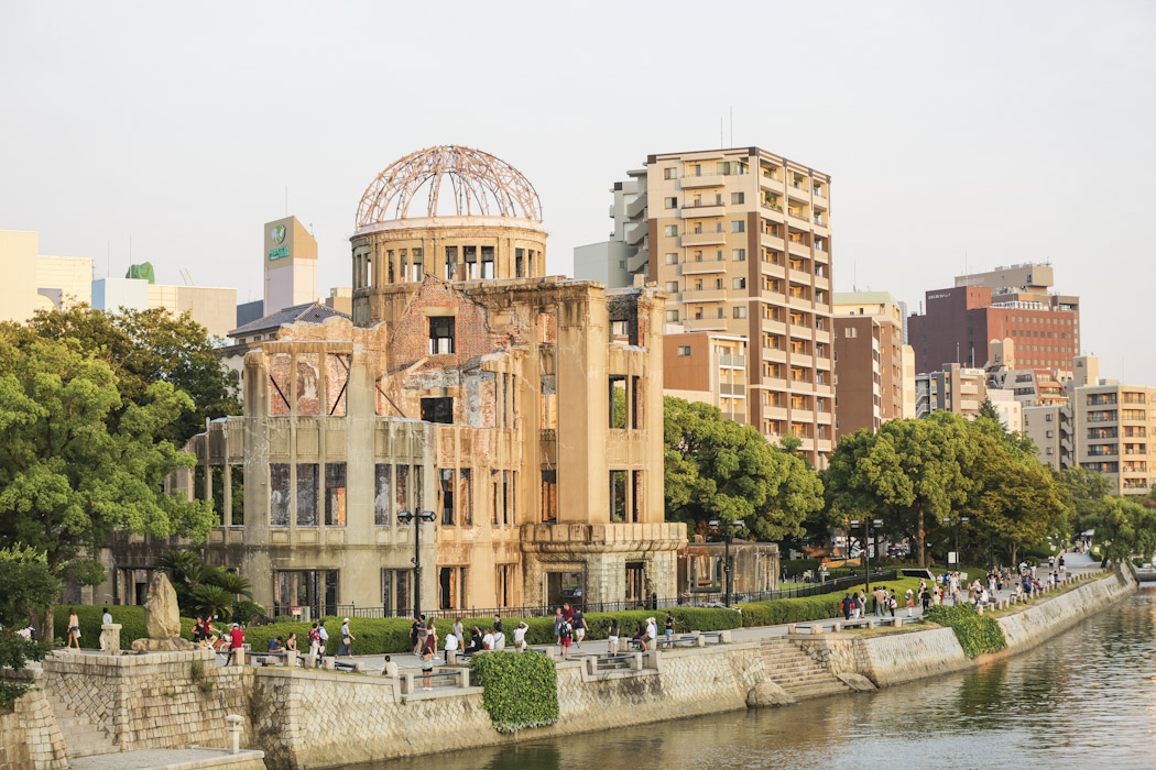 Hiroshima dome by river