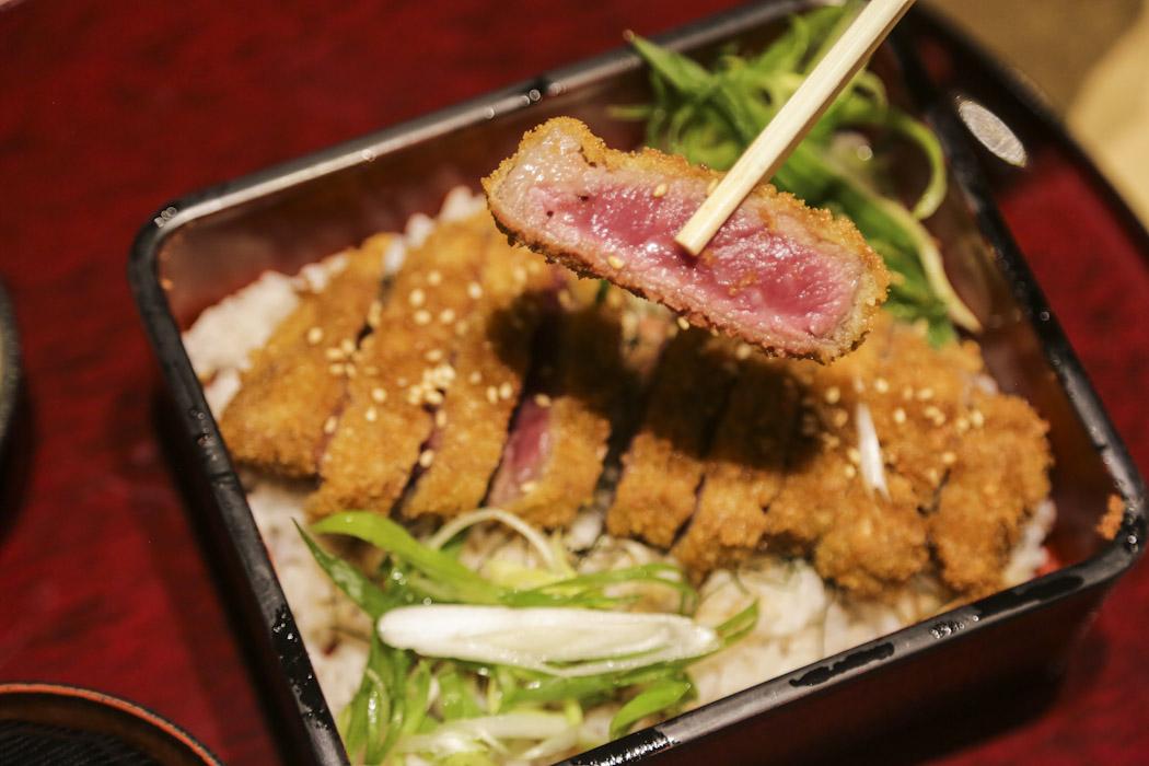 Gyukatsu deep fried beef - a speciality from Kyoto