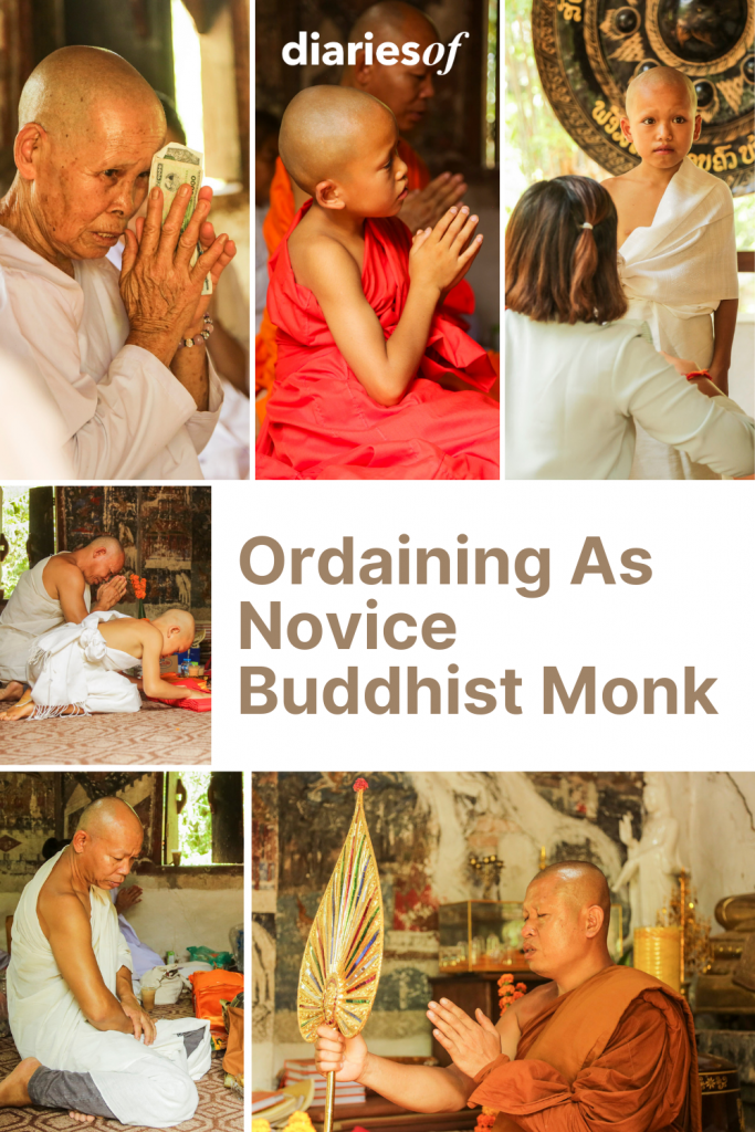 Ordaining As Novice Buddhist Monk in Luang Prabang