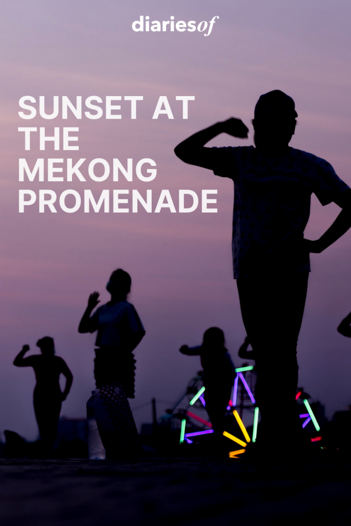 Sunset at the Mekong Promenade